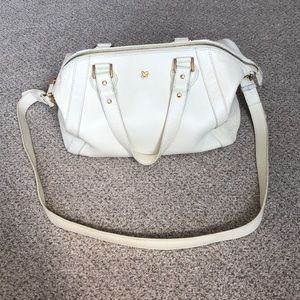 Ora Delphine off white and gold handbag